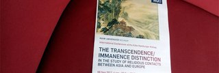 image of This Year's KHK Annual Conference on the Transcendence/Immanenz Distinction