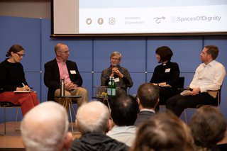 "image of CERES-Forscher beim Symposium ""Spaces of Dignity - Spaces of Plurality"" in New York"